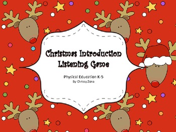 Physical Education Christmas Introduction Listening Game