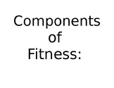 Physical Education Components of Fitness