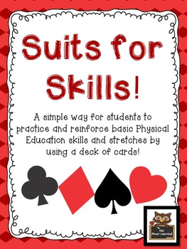"Physical Education ""Deck of Cards"" Independent Skills Activity!"