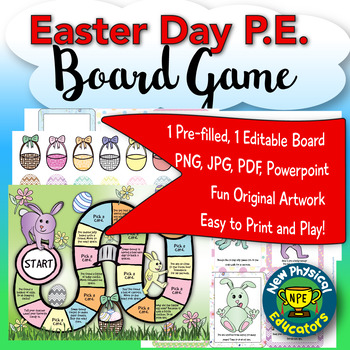 Physical Education Easter Board Game for Physical Education, Elementary