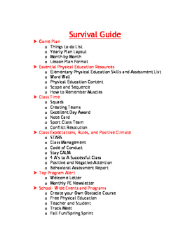 Physical Education Elementary Survival Guide