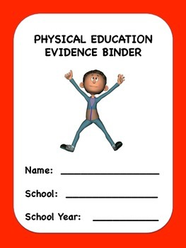 Physical Education Evidence Binder (Danielson) - Red