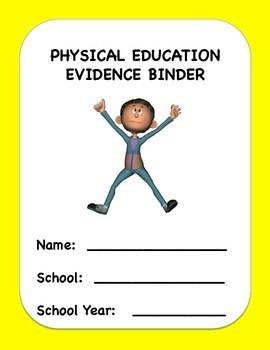 Physical Education Evidence Binder (Danielson) - Yellow