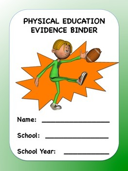 Physical Education Evidence Binder (Green Boarder) - Danielson
