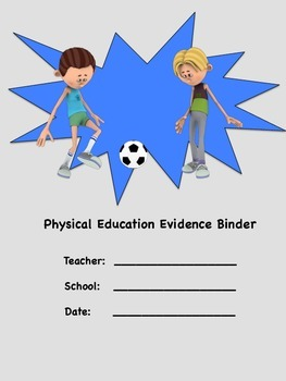 Physical Education Evidence Binder Inserts (Grey) - Danielson