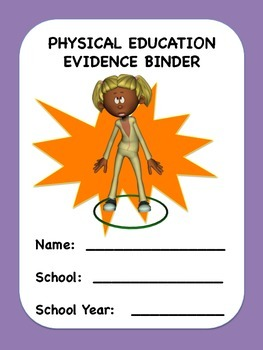 Physical Education Evidence Binder Inserts (Purple Boarder) Danielson