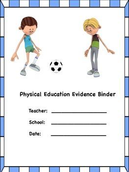 PE Evidence Binder Inserts for Danielson's Framework - Blue