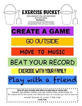 Physical Education: Exercise Bucket