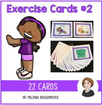 Physical Education Exercise Card Set 2