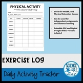Physical Education: Distance Learning Exercise Log (Google