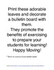 """Physical Education: Exercise """"leaves"""" you... Bulletin Board"""