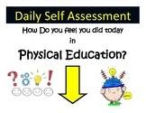 Physical Education Exit Student Self-Reflection Poster