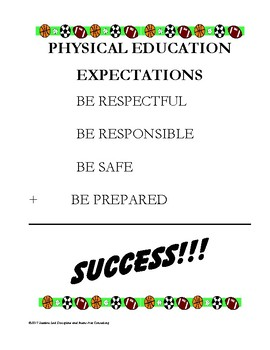 Physical Education Expectations