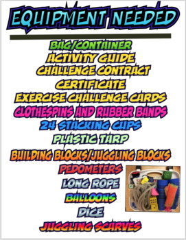 Physical Education Family Challenge