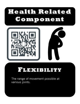 Physical Education Fitness Posters with QR Codes