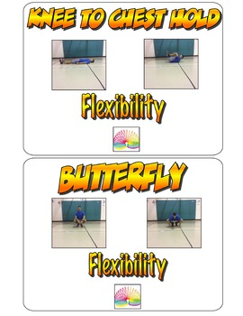 Physical Education Flexibility Exercise Cards