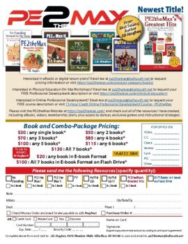 BEST DEAL! PE Games and Dances: J.D. Hughes' 5 Books and 4 DVDs Order Form