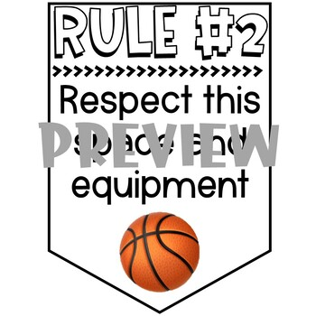 Physical Education - Gym - Rules Posters Banners