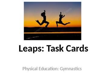 Physical Education Gymnastics Unit Task Cards (Elementary/Middle.High School