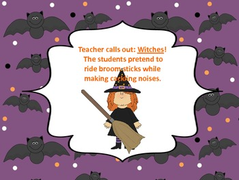 Physical Education Halloween Introduction Game
