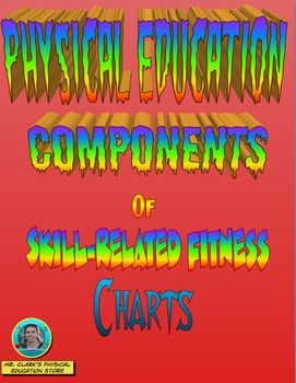 Physical Education Health and Skill-Related Fitness Charts Bundled