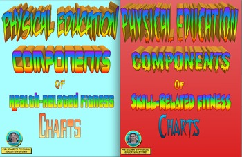 Physical Education Health and Skill-Related Fitness Charts