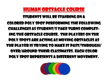 Physical Education Human Obstacle Course