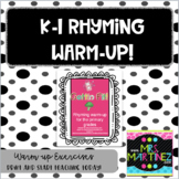 Physical Education: K-2 Rhyming Warm-up!
