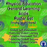 Physical Education Learning Scale Poster/Slide Set Trophy/Award Theme