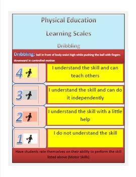 Physical Education Learning Scales Motor Skills Bundled