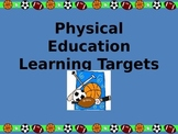 3rd Grade Physical Education Standards Learning Target Posters