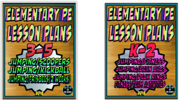 Physical Education Lesson Plan K-5th Volume 5 Bundle