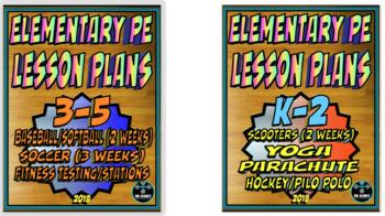 Physical Education Lesson Plan K-5 Volume 7 Bundle