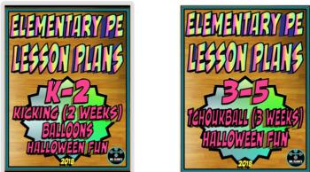 Physical Education Lesson Plan K-5th Grade Volume 2 Bundle