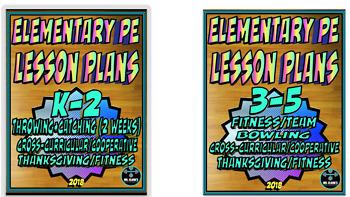 Physical Education Lesson Plan K-5th Grade Volume 3 Bundle