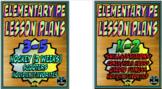 Physical Education Lesson Plan K-5th Grade Volume 4 Bundle
