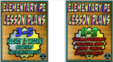 Physical Education Lesson Plan 6 K-5th Grade Volume 4 Bundle