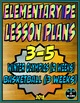 Physical Education Lesson Plan K-5th Volume 6 Bundle