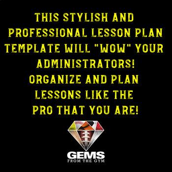 PE Lesson Plan Template - EDITABLE!