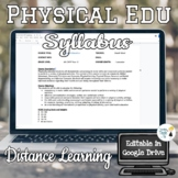 Physical Education Middle School Syllabus - Distance Learning