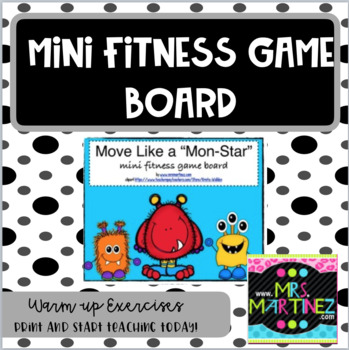 "Physical Education: Move Like a ""Mon-Star"" Mini Fitness Board"