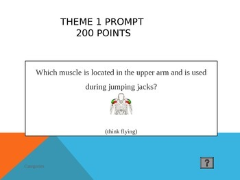 Physical Education Muscle and Fitness Jeopardy Activity