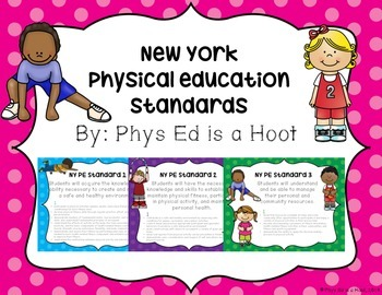 Physical Education New York Standards Printable Signs