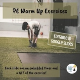 Physical Education - Online Distance Learning Exercises - Google Slides!