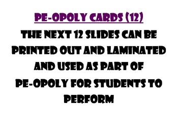 Physical Education PE-opoly