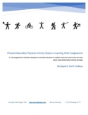 Physical Education Physical Activity Distance Learning Web