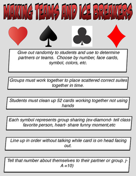 Physical Education Playing Card Activities