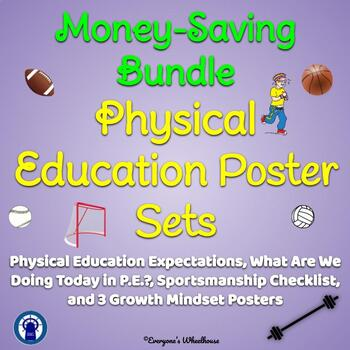 Physical Education Poster Sets Bundle