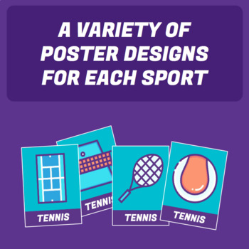 Physical Education Sport Themed Posters
