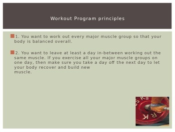 Physical Education - Principles of Exercising and Working Out
